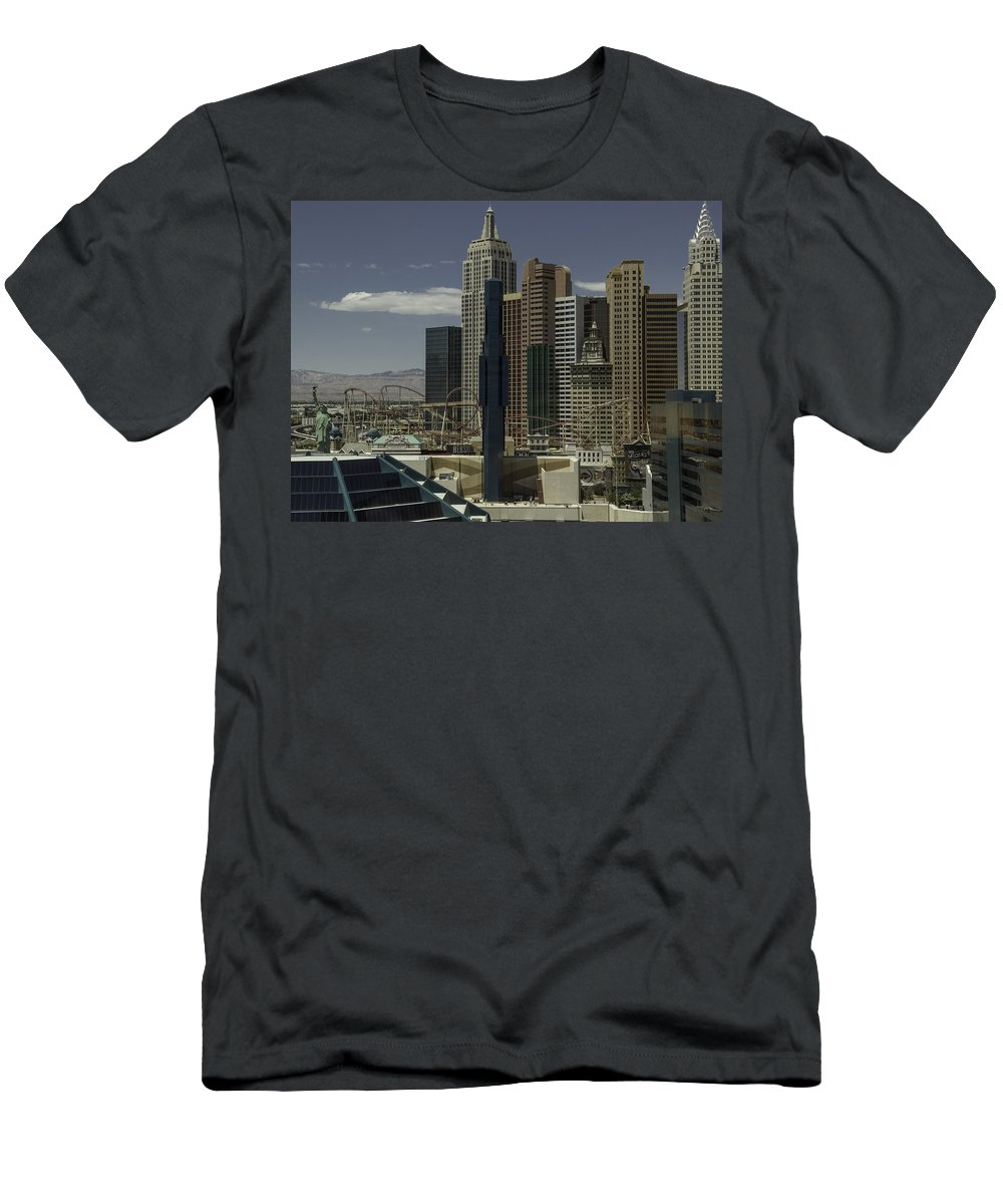 2015 Men's T-Shirt (Athletic Fit) featuring the photograph New York New York View 2 by Teresa Mucha