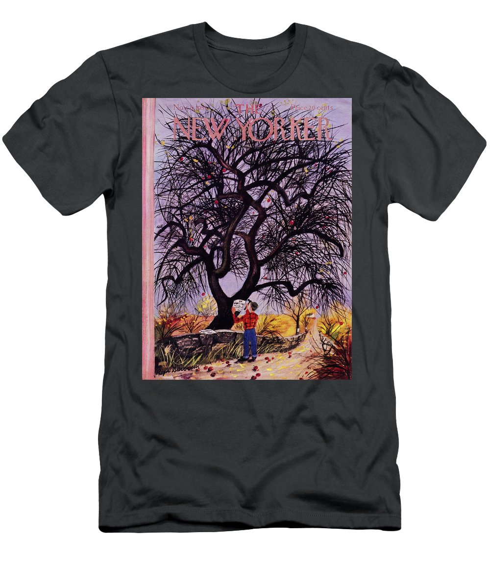 Man T-Shirt featuring the painting New Yorker November 5 1955 by Roger Duvoisin