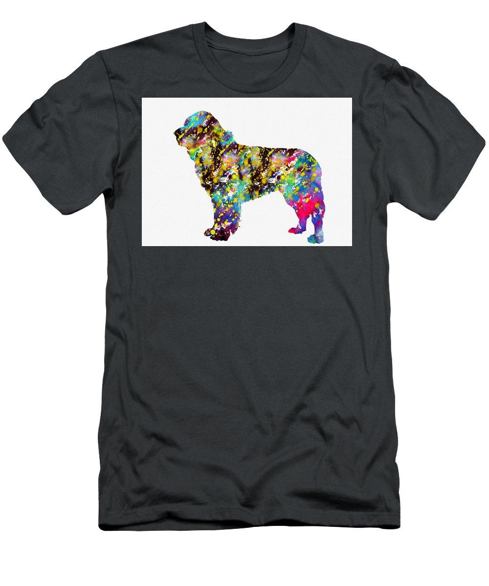 Newfoundland Men's T-Shirt (Athletic Fit) featuring the digital art Newfoundland by Erzebet S