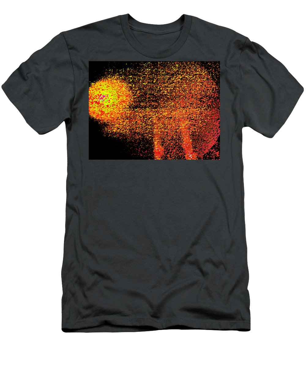 Abstract Men's T-Shirt (Athletic Fit) featuring the digital art Night As A Many Splendored Thing by Lenore Senior