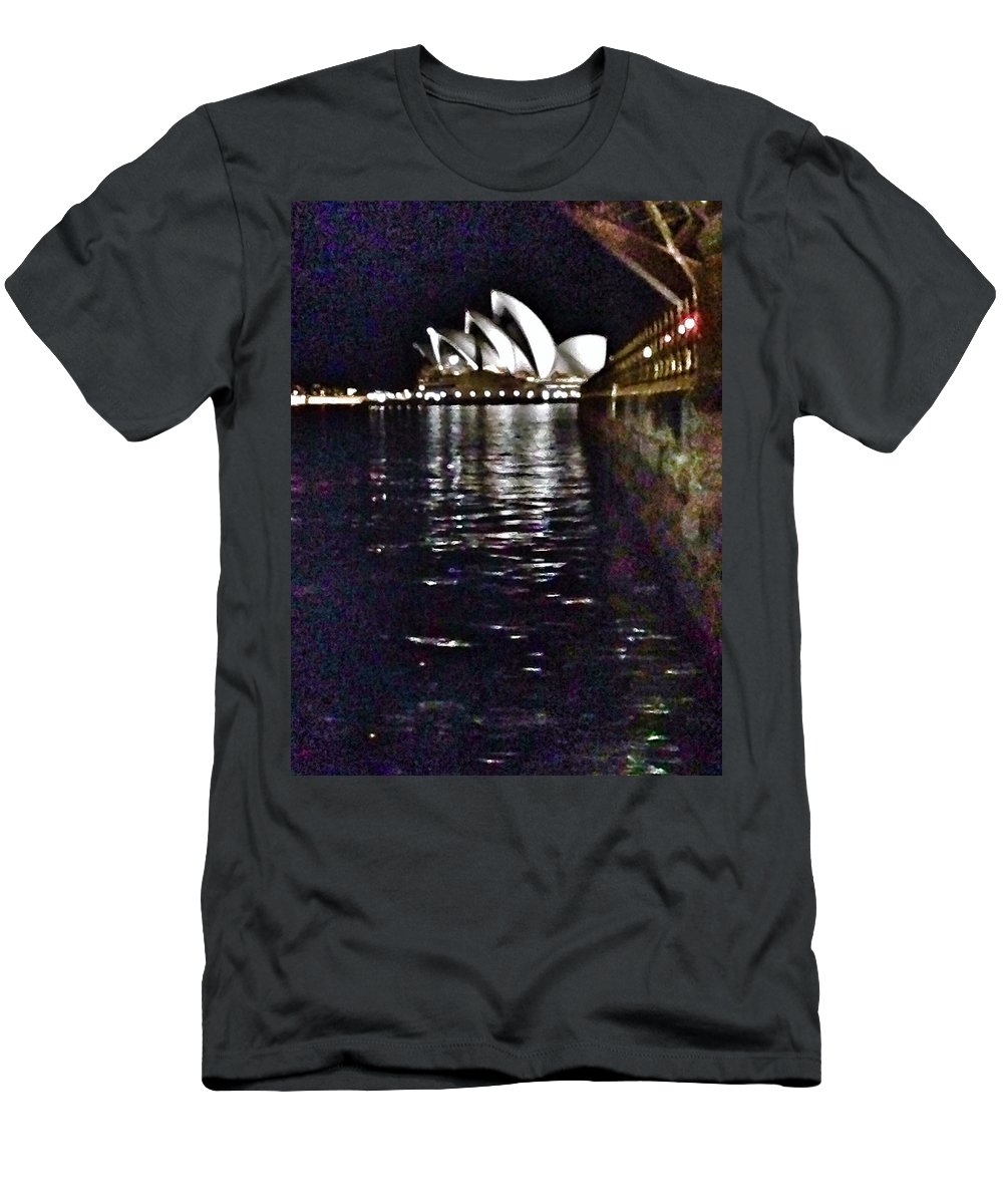 Opera House Men's T-Shirt (Athletic Fit) featuring the digital art Night At The Opera by Susan Dietz