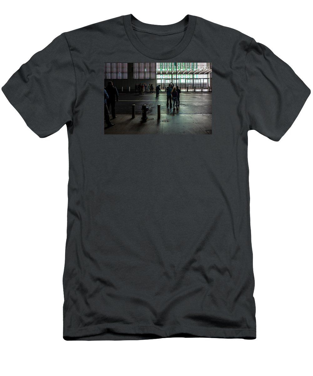 New York Men's T-Shirt (Athletic Fit) featuring the photograph Night Viewing by M G Whittingham