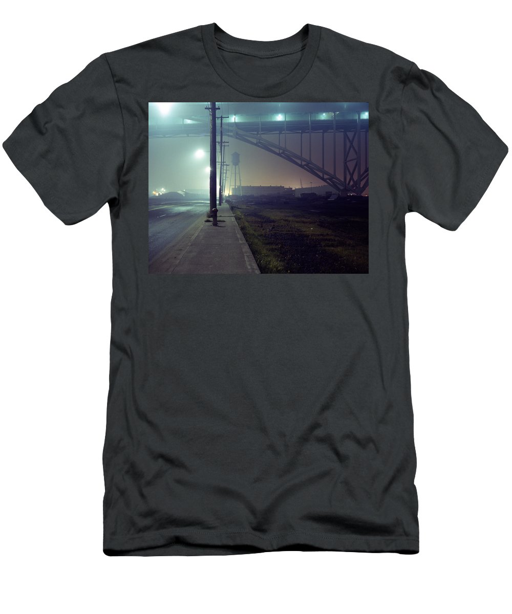 Night Photo Men's T-Shirt (Athletic Fit) featuring the photograph Nightscape 2 by Lee Santa