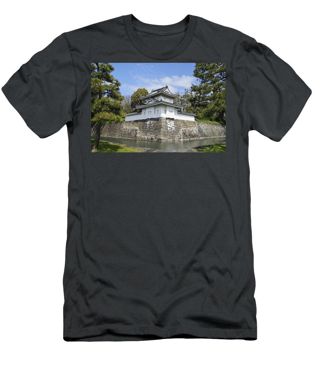 Nijo Castle Men's T-Shirt (Athletic Fit) featuring the photograph Nijo Castle by Brian Kamprath