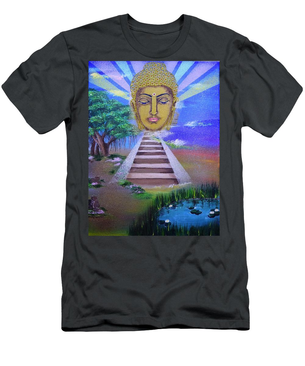 Love Men's T-Shirt (Athletic Fit) featuring the painting Buddha by Ivy Sharma