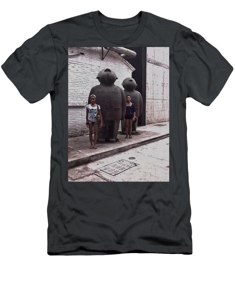 Sculpture Men's T-Shirt (Athletic Fit) featuring the digital art No More Mao Suits by Susan Dietz