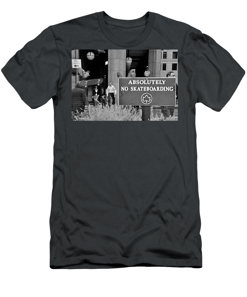 2d Men's T-Shirt (Athletic Fit) featuring the photograph No Skateboarding by Brian Wallace