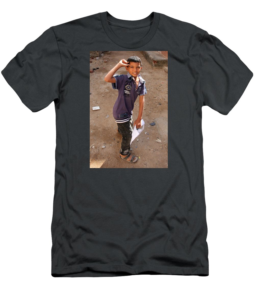 Hurghada Men's T-Shirt (Athletic Fit) featuring the photograph No Taste Here by Jez C Self