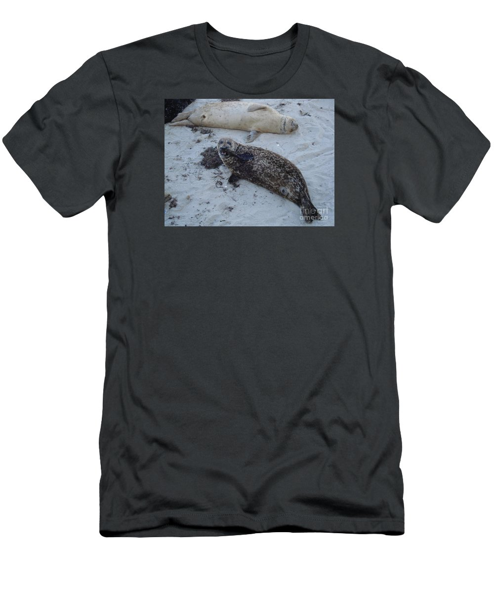 Seals Men's T-Shirt (Athletic Fit) featuring the photograph Nom Nom Nom by Madilyn Fox