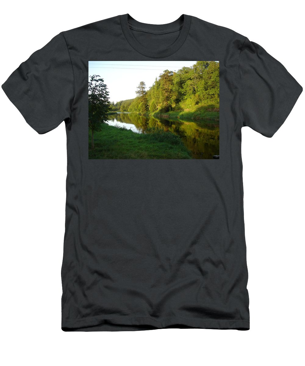 Nore Men's T-Shirt (Athletic Fit) featuring the photograph Nore Reflections I by Kelly Mezzapelle