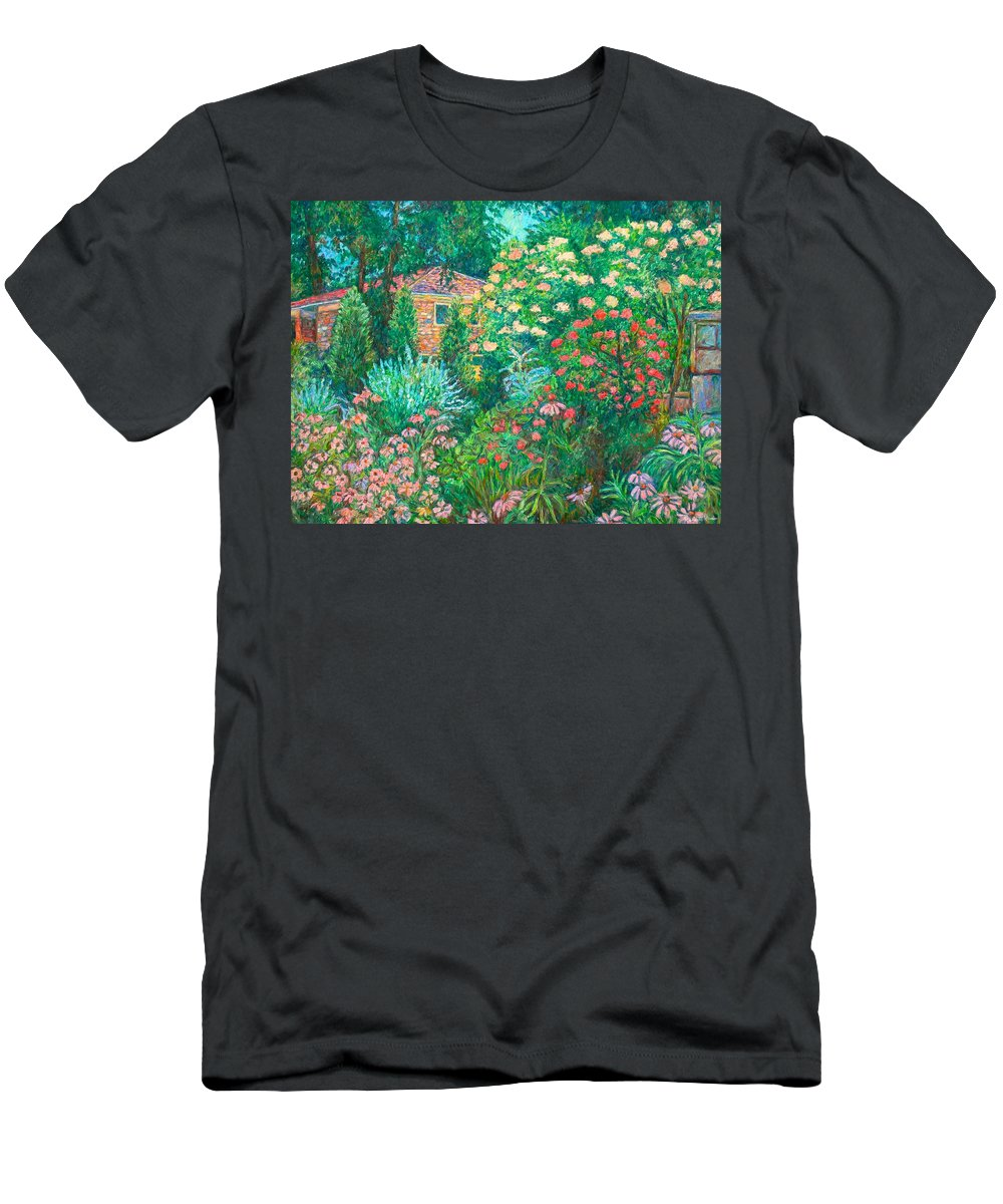 Garden Men's T-Shirt (Athletic Fit) featuring the painting North Albemarle In Mclean Va by Kendall Kessler