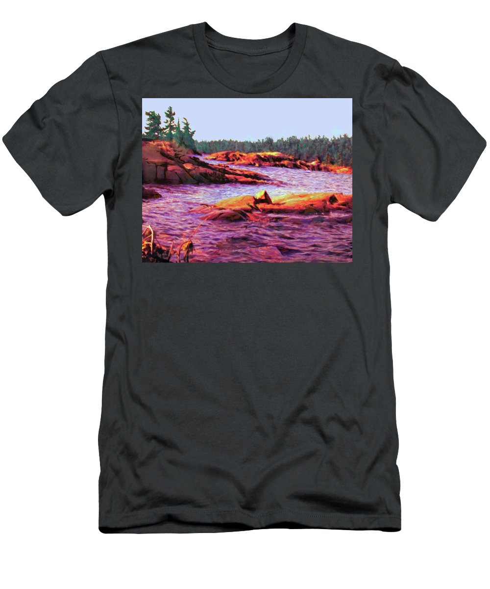 Wilderness Men's T-Shirt (Athletic Fit) featuring the digital art North Channel Islands by Ian MacDonald