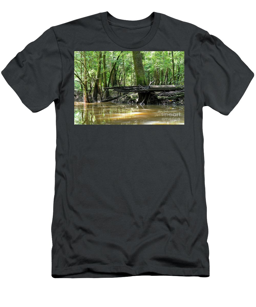 Men's T-Shirt (Athletic Fit) featuring the photograph North West Florida Swamp by Winston Hudson