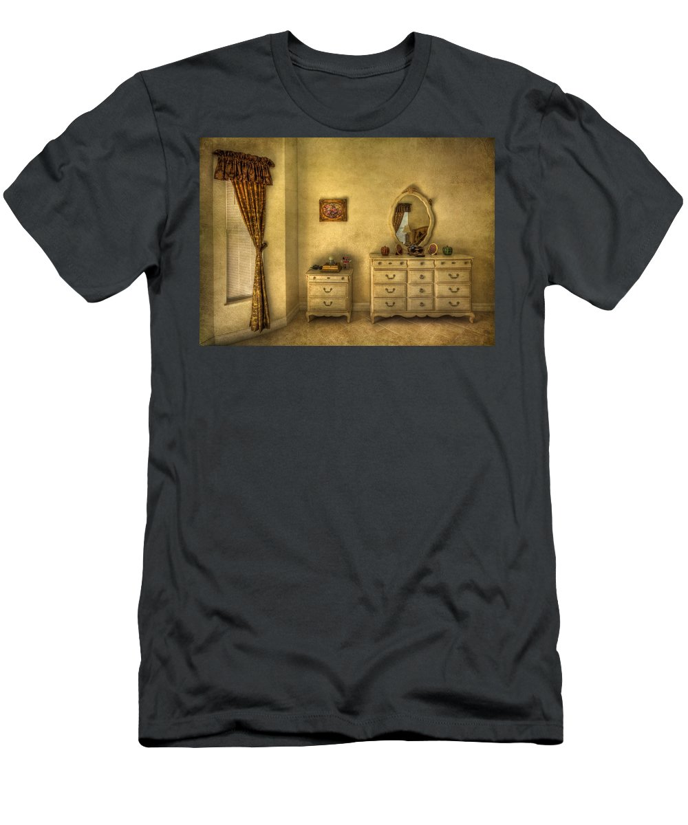 Room Men's T-Shirt (Athletic Fit) featuring the photograph Nostalgic Harmonies by Evelina Kremsdorf
