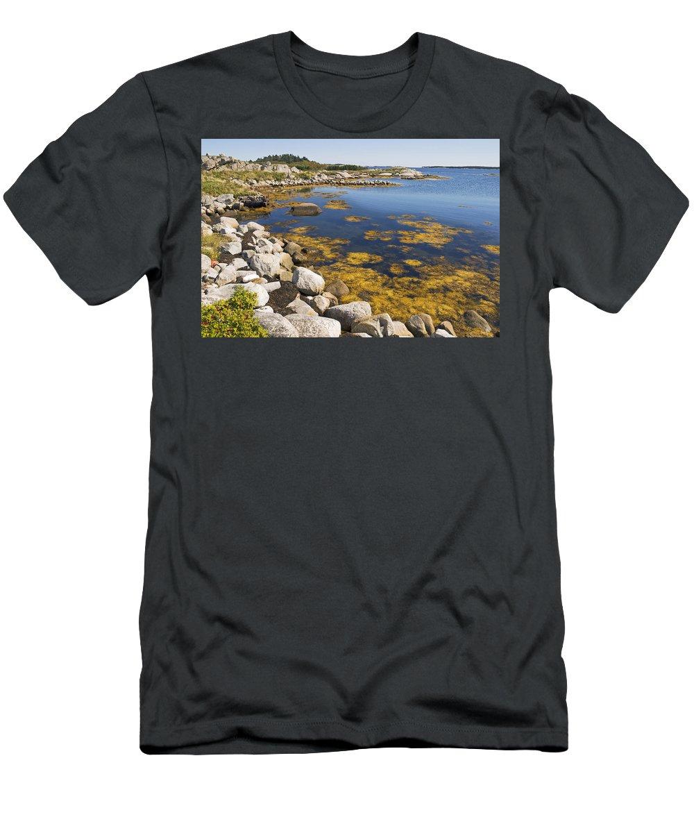 Seascape Men's T-Shirt (Athletic Fit) featuring the photograph Nova Scotia Seascape by Pierre Logwin