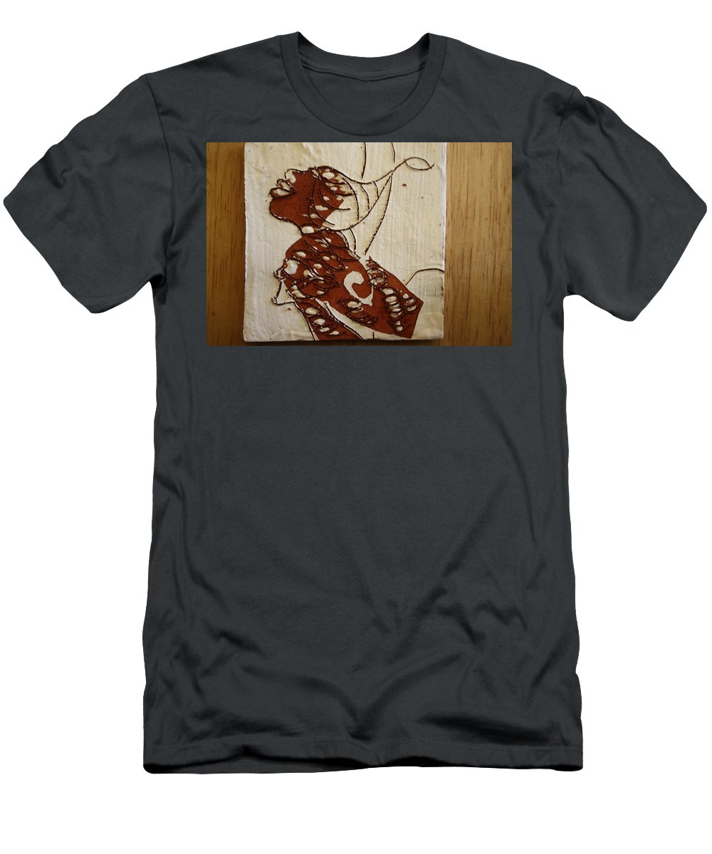Jesus Men's T-Shirt (Athletic Fit) featuring the ceramic art Nude 12 - Tile by Gloria Ssali