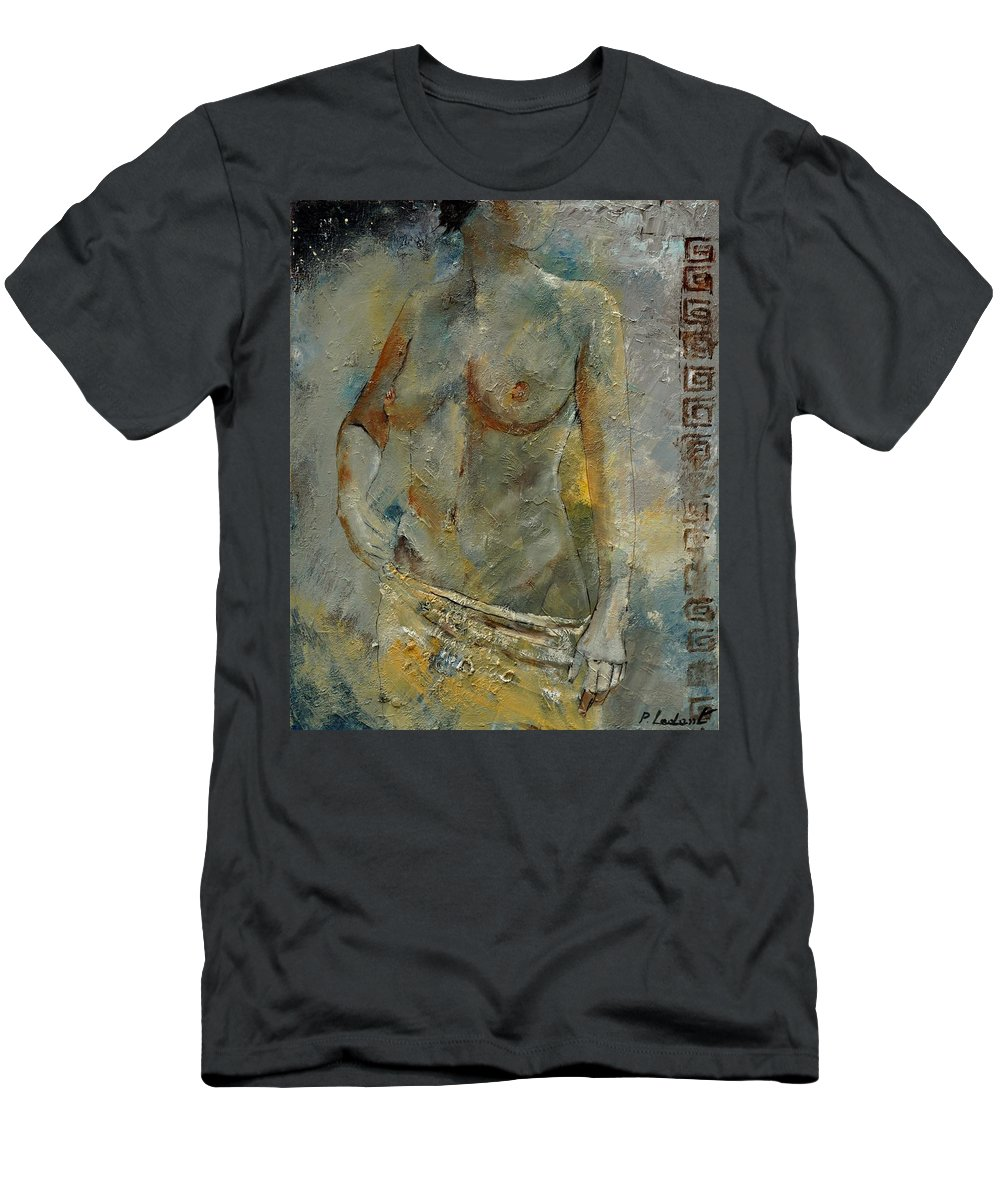 Nude T-Shirt featuring the painting Nude 451140 by Pol Ledent