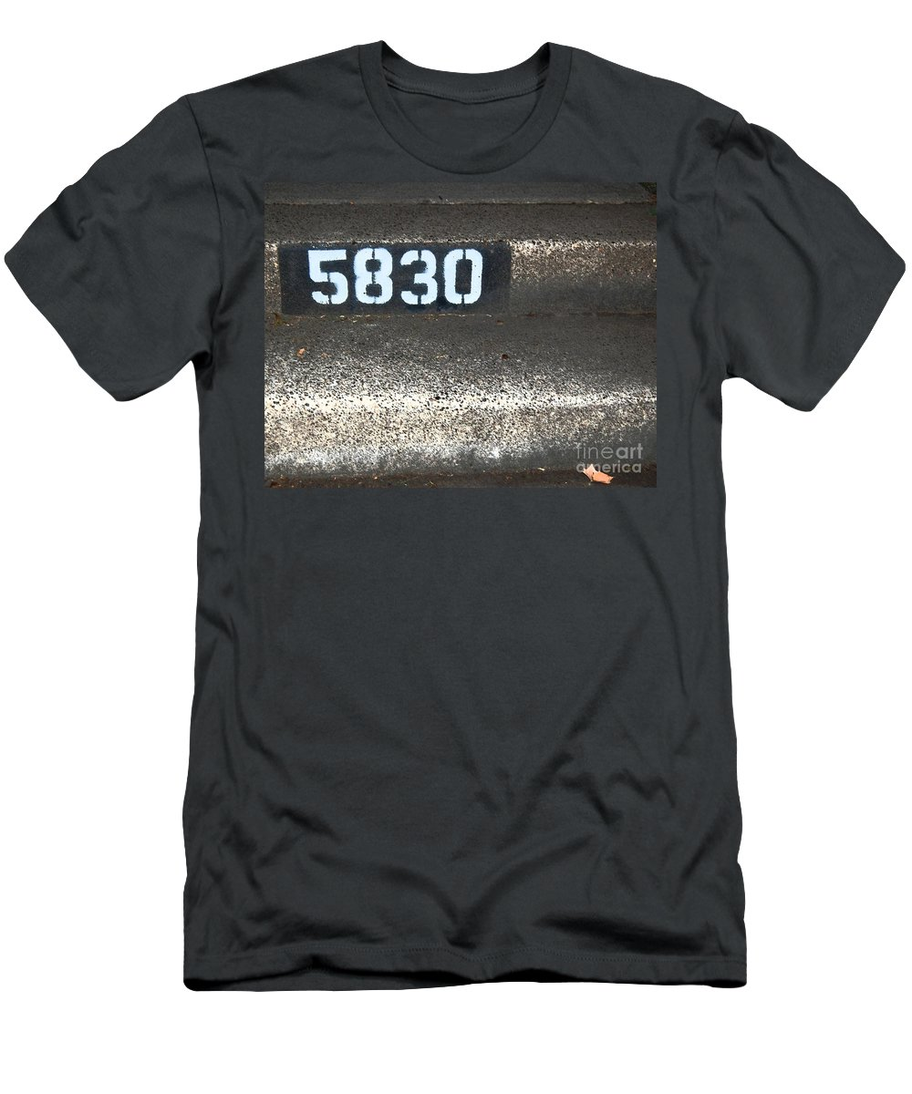 Numbers Men's T-Shirt (Athletic Fit) featuring the photograph Numbers by Debbi Granruth