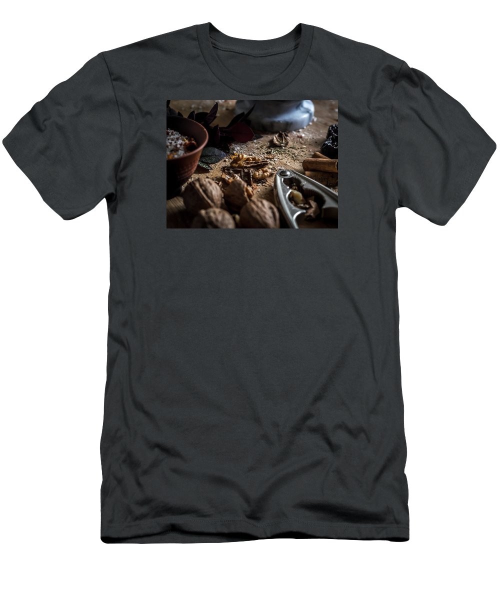 Food Men's T-Shirt (Athletic Fit) featuring the photograph Nuts And Spices Series - One Of Six by Kaleidoscopik Photography