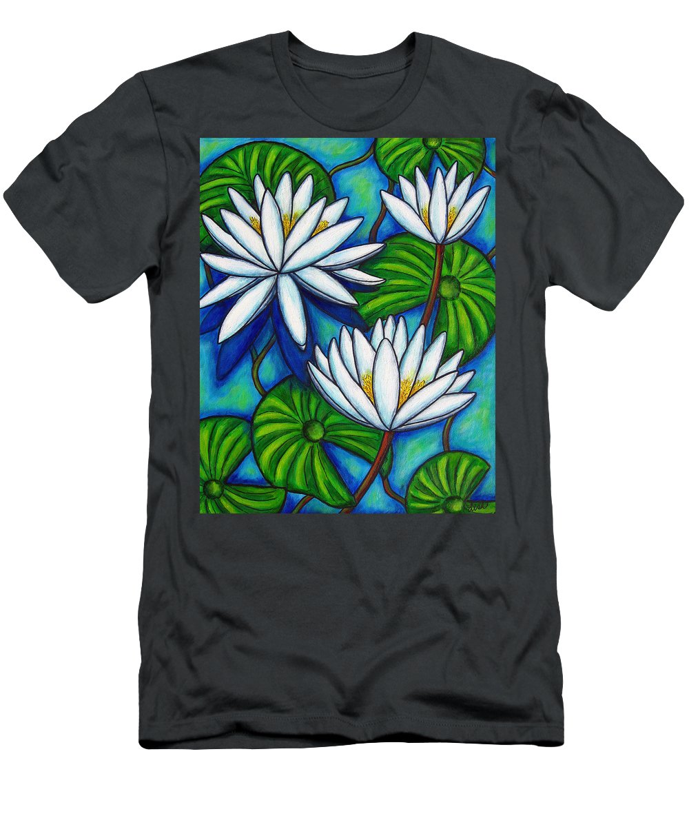 Lily T-Shirt featuring the painting Nymphaea Blue by Lisa Lorenz