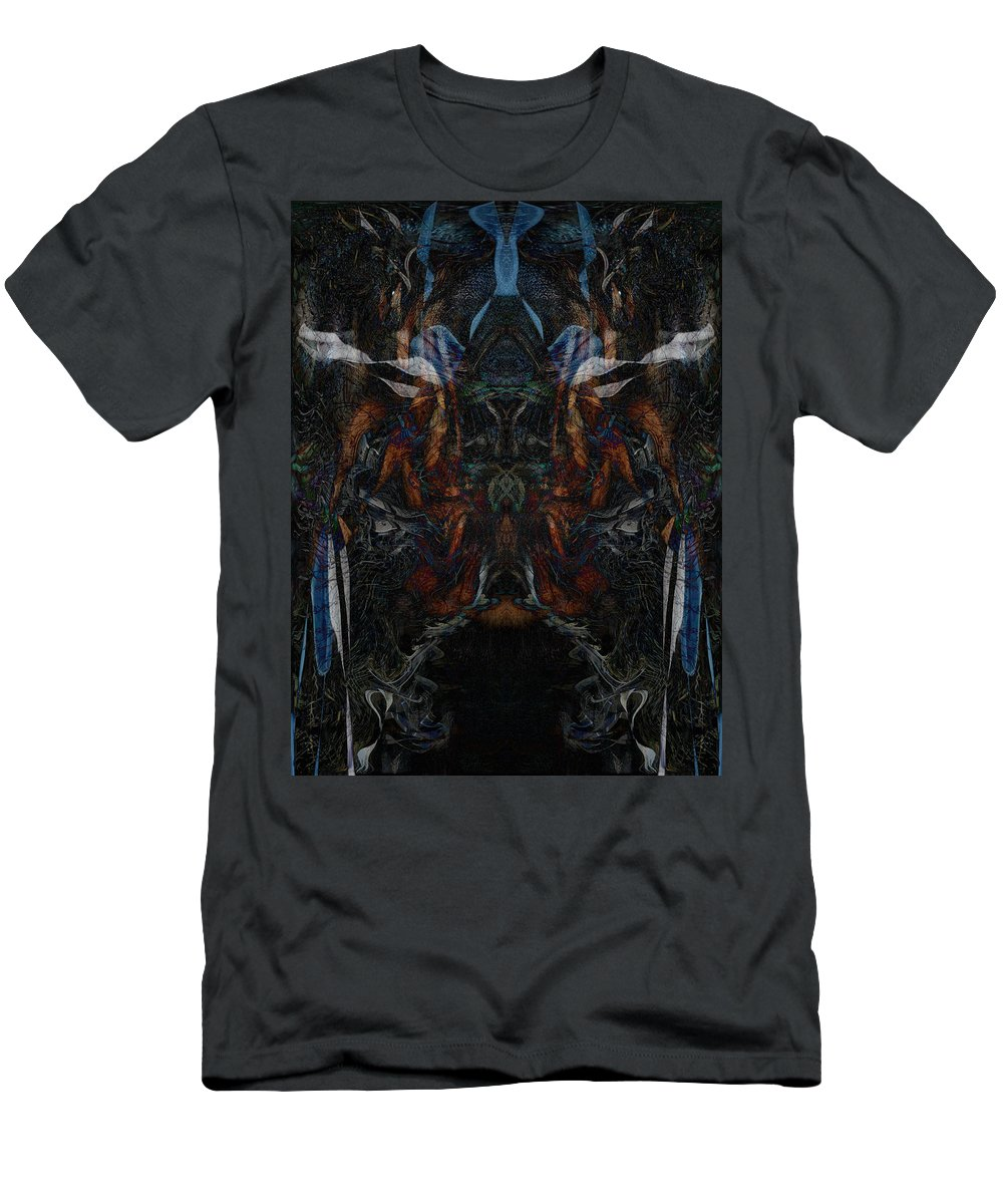 Deep Men's T-Shirt (Athletic Fit) featuring the digital art Oa-4895 by Standa1one