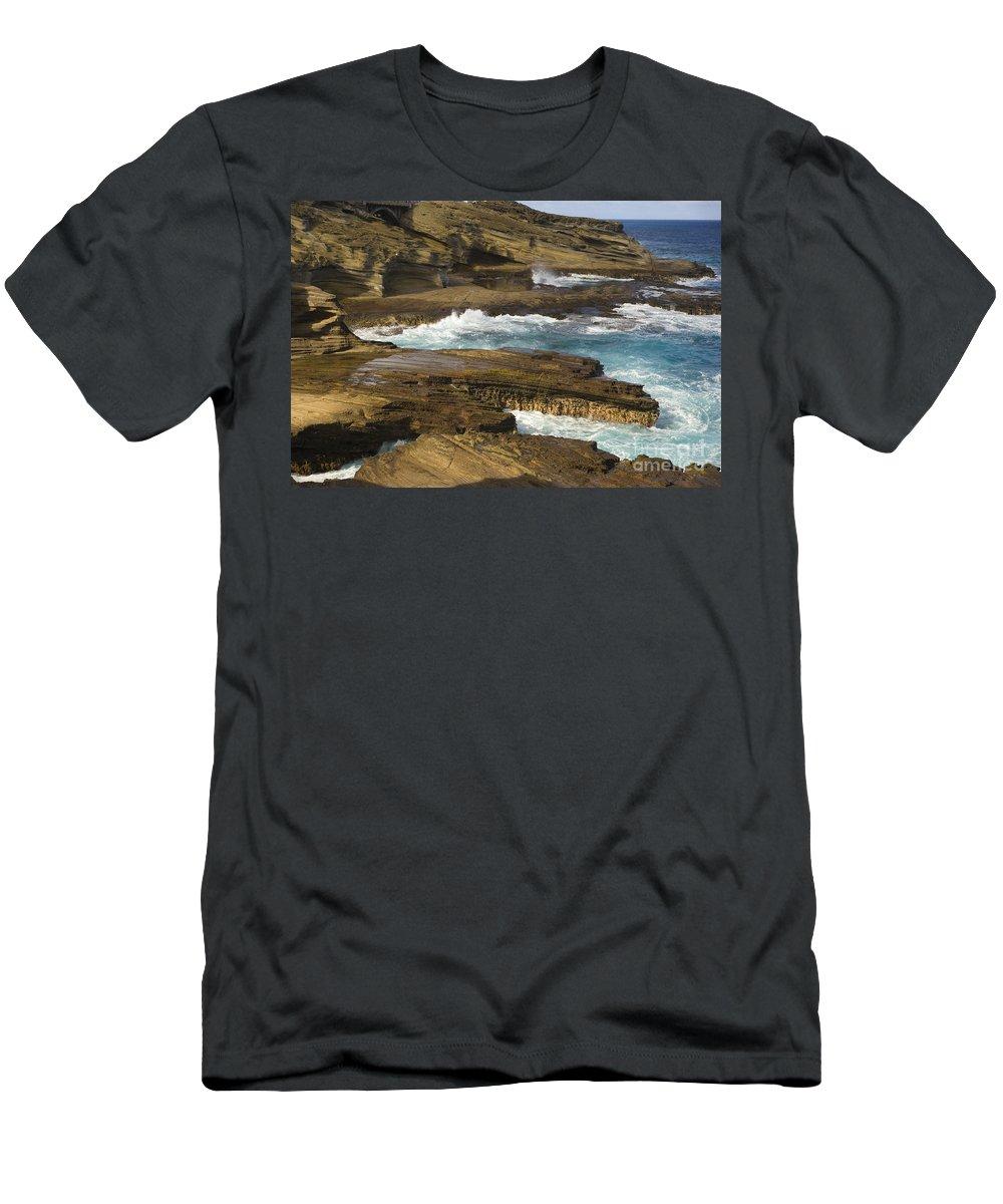 Beautiful Men's T-Shirt (Athletic Fit) featuring the photograph Oahu, Southeast Coast by Dana Edmunds - Printscapes