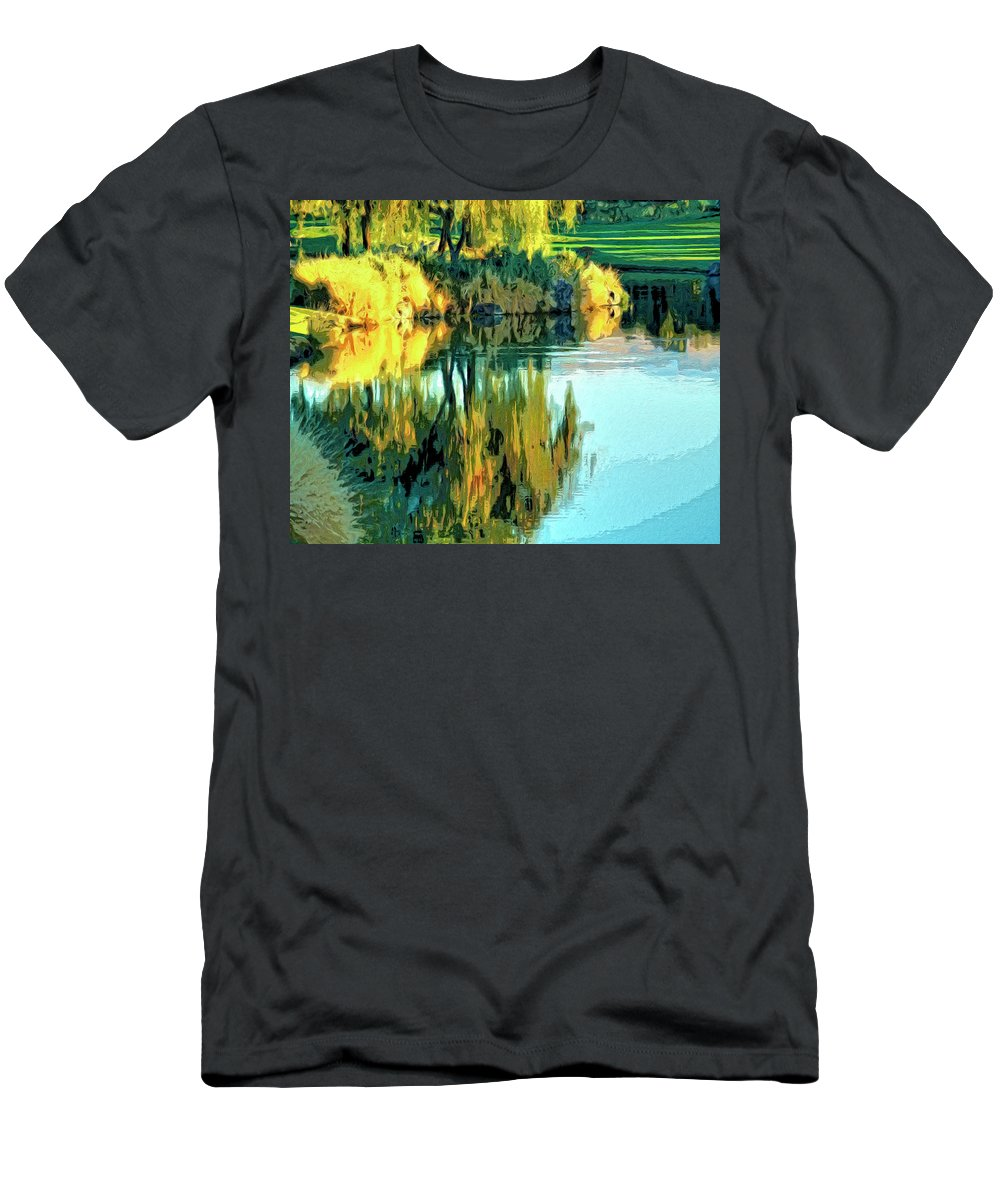 Oasis Men's T-Shirt (Athletic Fit) featuring the painting Oasis by Dominic Piperata