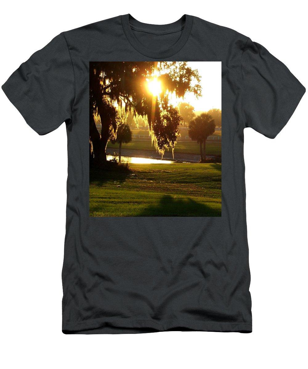 Sunset Men's T-Shirt (Athletic Fit) featuring the photograph Ocala Sunset by Kristen Wesch
