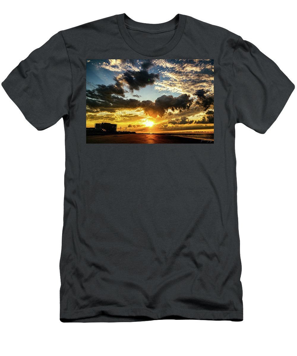 J. Zaring Men's T-Shirt (Athletic Fit) featuring the photograph Ocean City Dream by Joshua Zaring