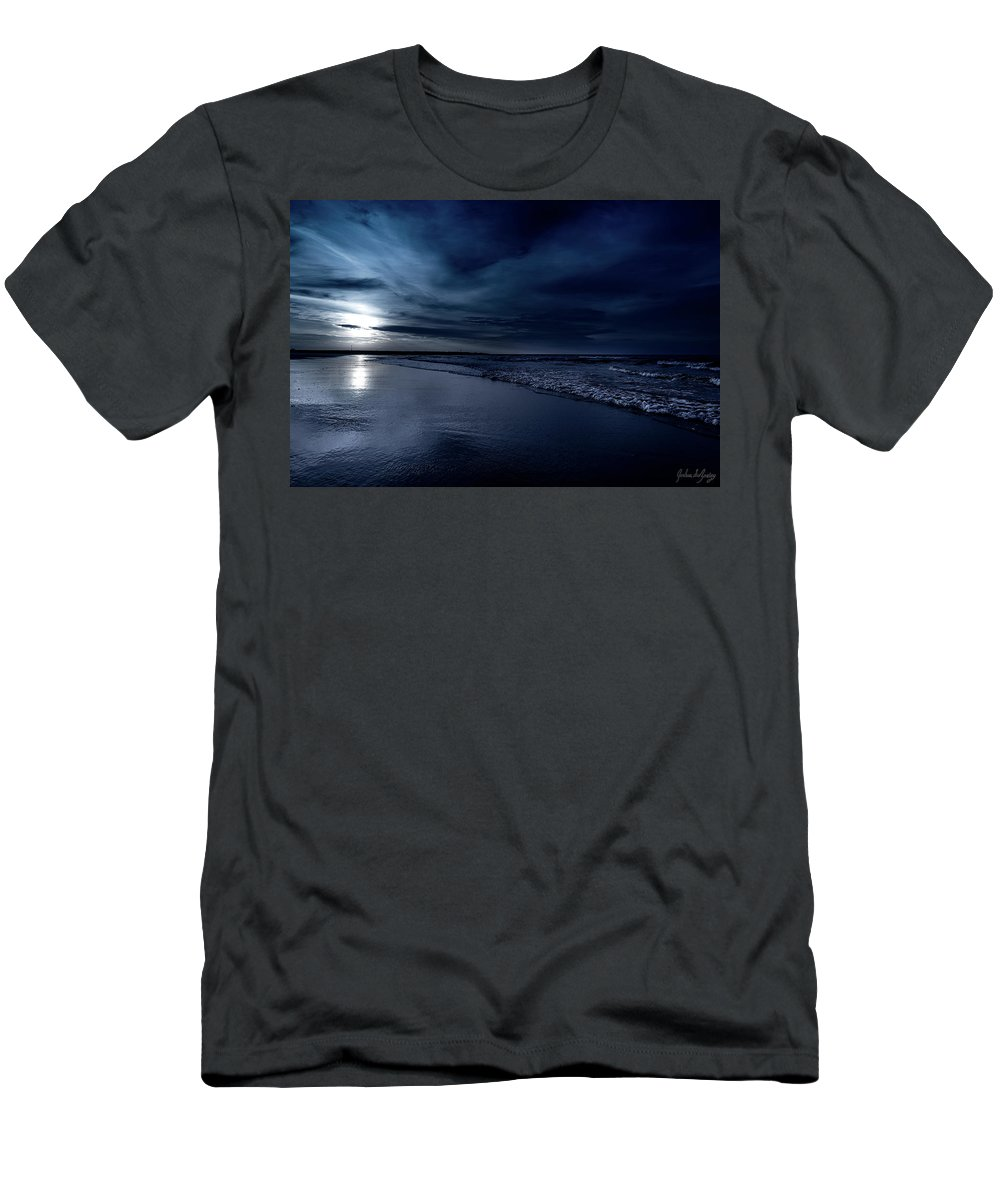 J. Zaring Men's T-Shirt (Athletic Fit) featuring the photograph Ocean City Nights by Joshua Zaring
