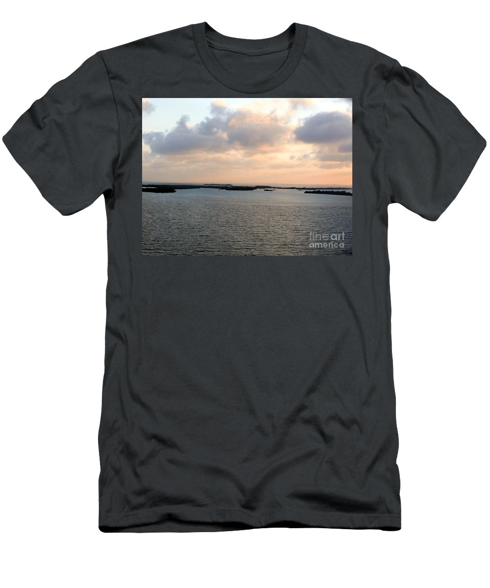 Ocean Men's T-Shirt (Athletic Fit) featuring the photograph Ocean Sunset by Katherine W Morse