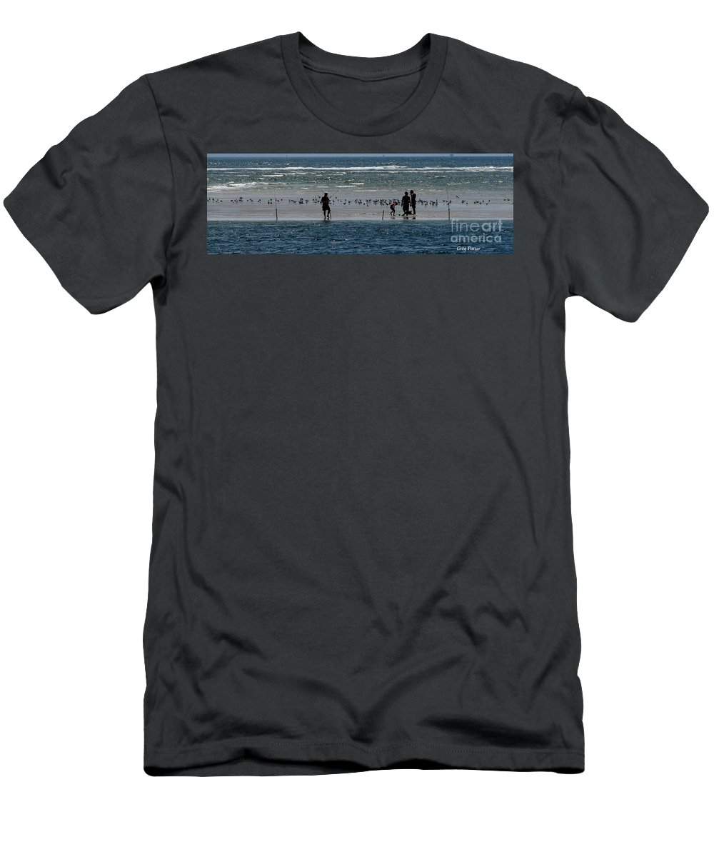 Atlantic Ocean Men's T-Shirt (Athletic Fit) featuring the photograph Ocean Way by Greg Patzer