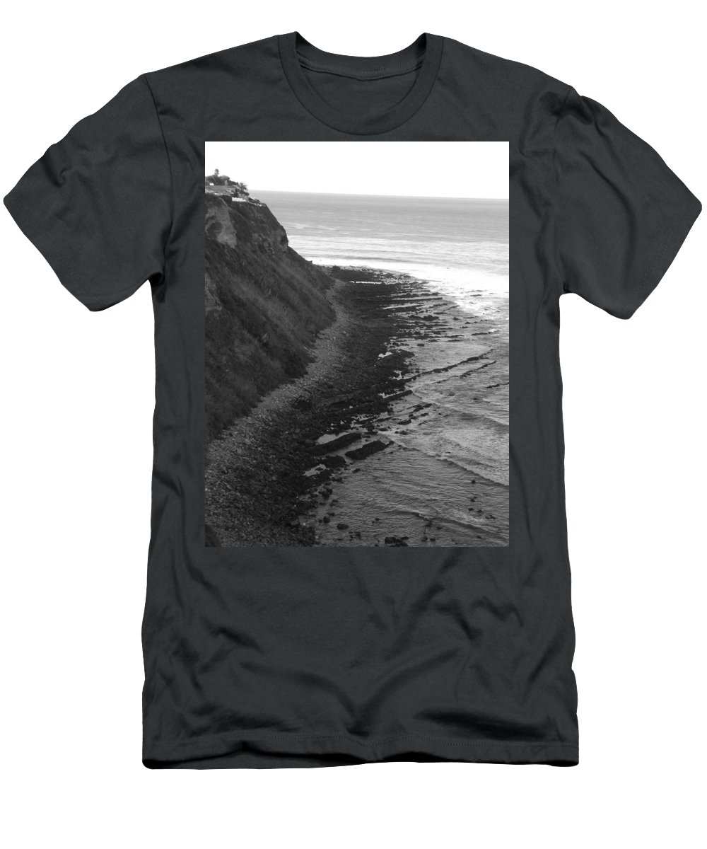 Beaches Men's T-Shirt (Athletic Fit) featuring the photograph Oceans Edge by Shari Chavira