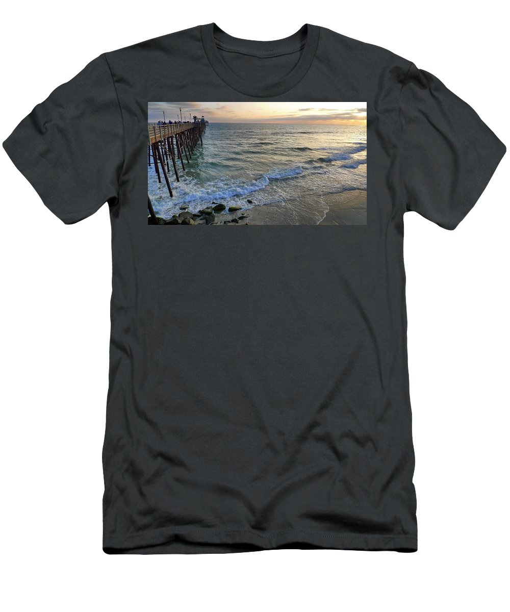 Oceanside Men's T-Shirt (Athletic Fit) featuring the photograph Oceanside by Skip Hunt