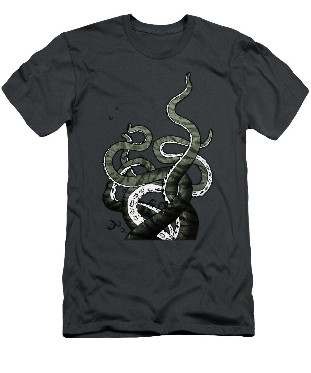 Octopus T-Shirt featuring the digital art Octopus Tentacles by Nicklas Gustafsson