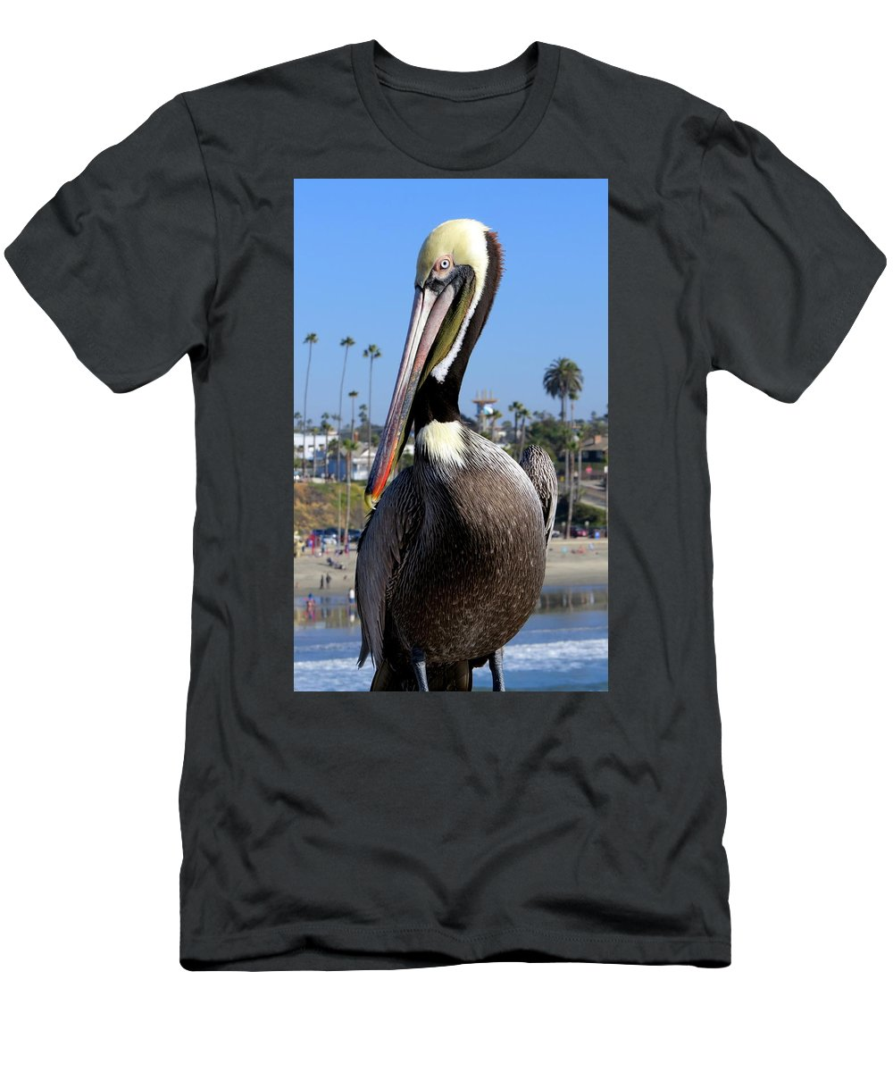 Ocean Men's T-Shirt (Athletic Fit) featuring the photograph Official Greeter Photograph by Kimberly Walker