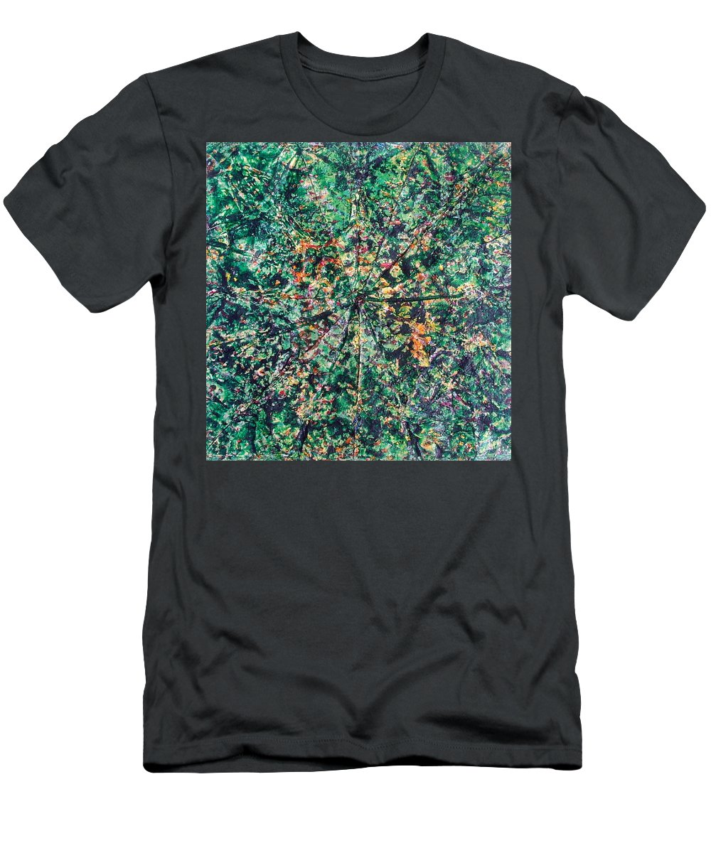 Colorful Men's T-Shirt (Athletic Fit) featuring the painting 43-offspring While I Was On The Path To Perfection 43 by Parijoy Swami Tapasyananda