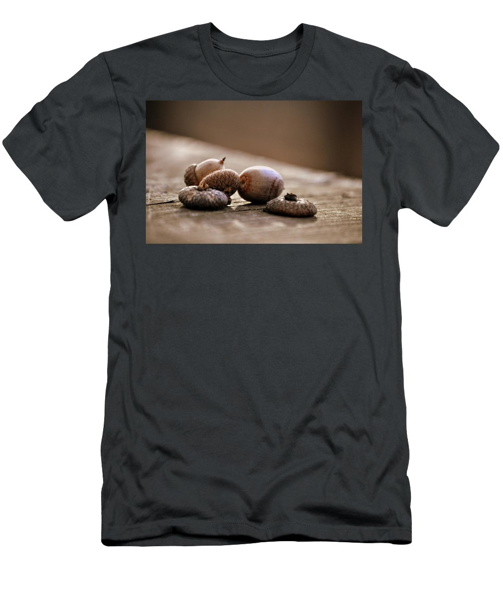 Walnuts Men's T-Shirt (Athletic Fit) featuring the photograph Oh Nuts by Trish Tritz