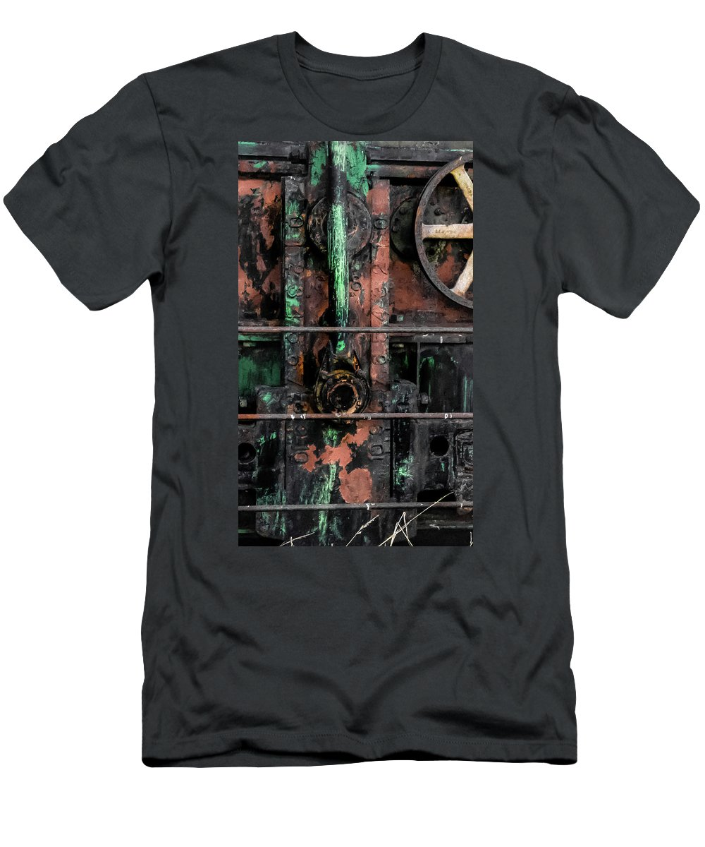Oil Well Men's T-Shirt (Athletic Fit) featuring the photograph Oil Well by Heather Moore