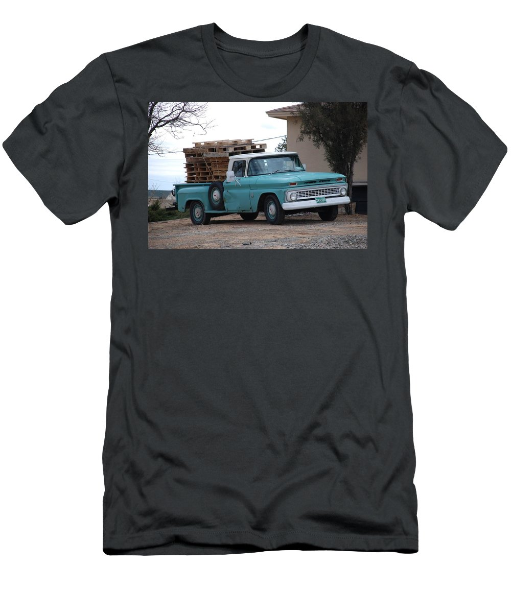 Old Truck Men's T-Shirt (Athletic Fit) featuring the photograph Old Chevy by Rob Hans