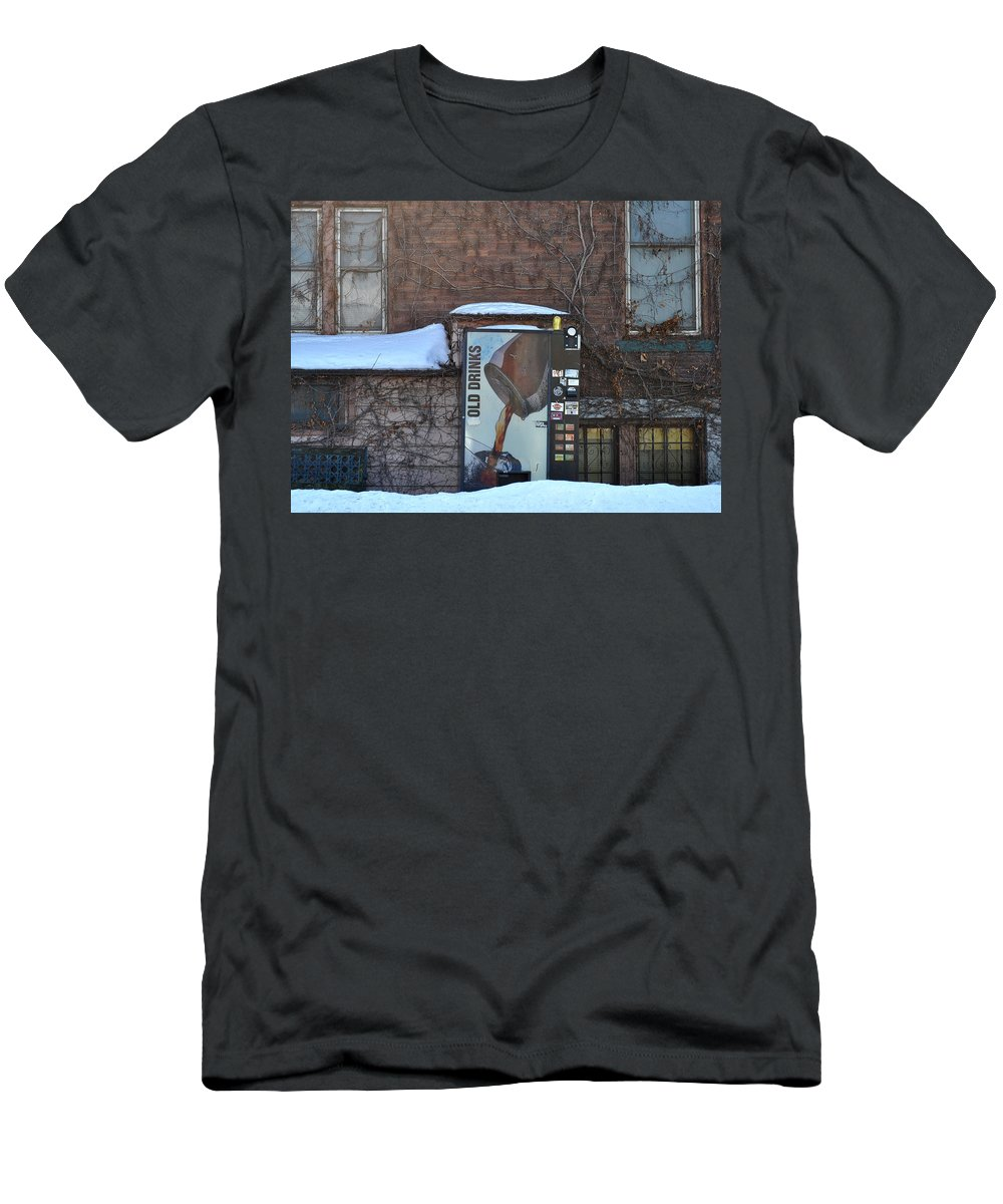 Drinks Men's T-Shirt (Athletic Fit) featuring the photograph Old Drinks by Tim Nyberg