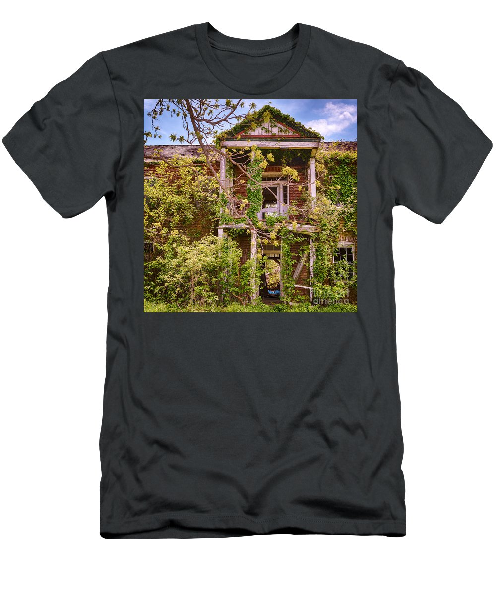 House Men's T-Shirt (Athletic Fit) featuring the photograph Old Entry Way by Terri Morris