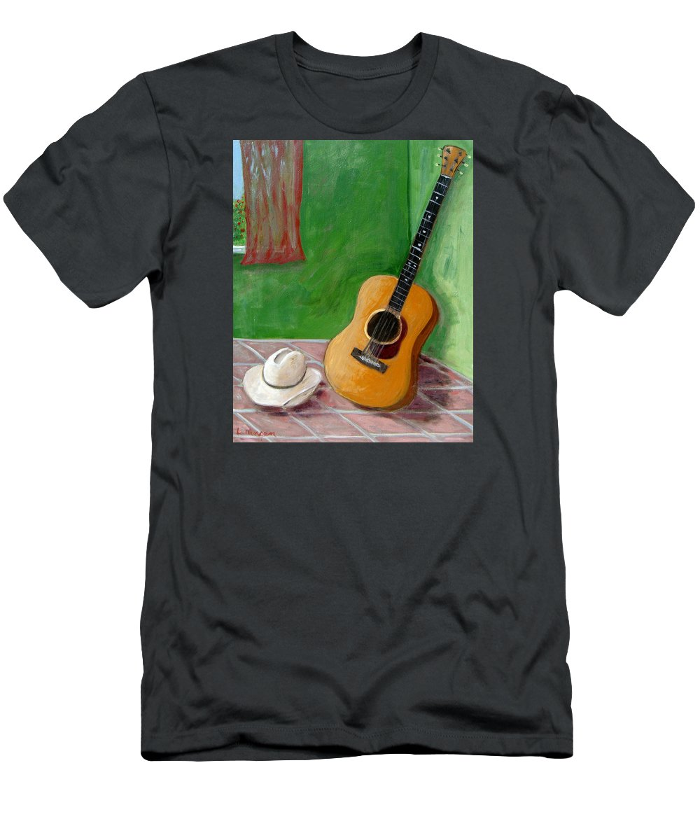 Guitar T-Shirt featuring the painting Old Friends by Laurie Morgan