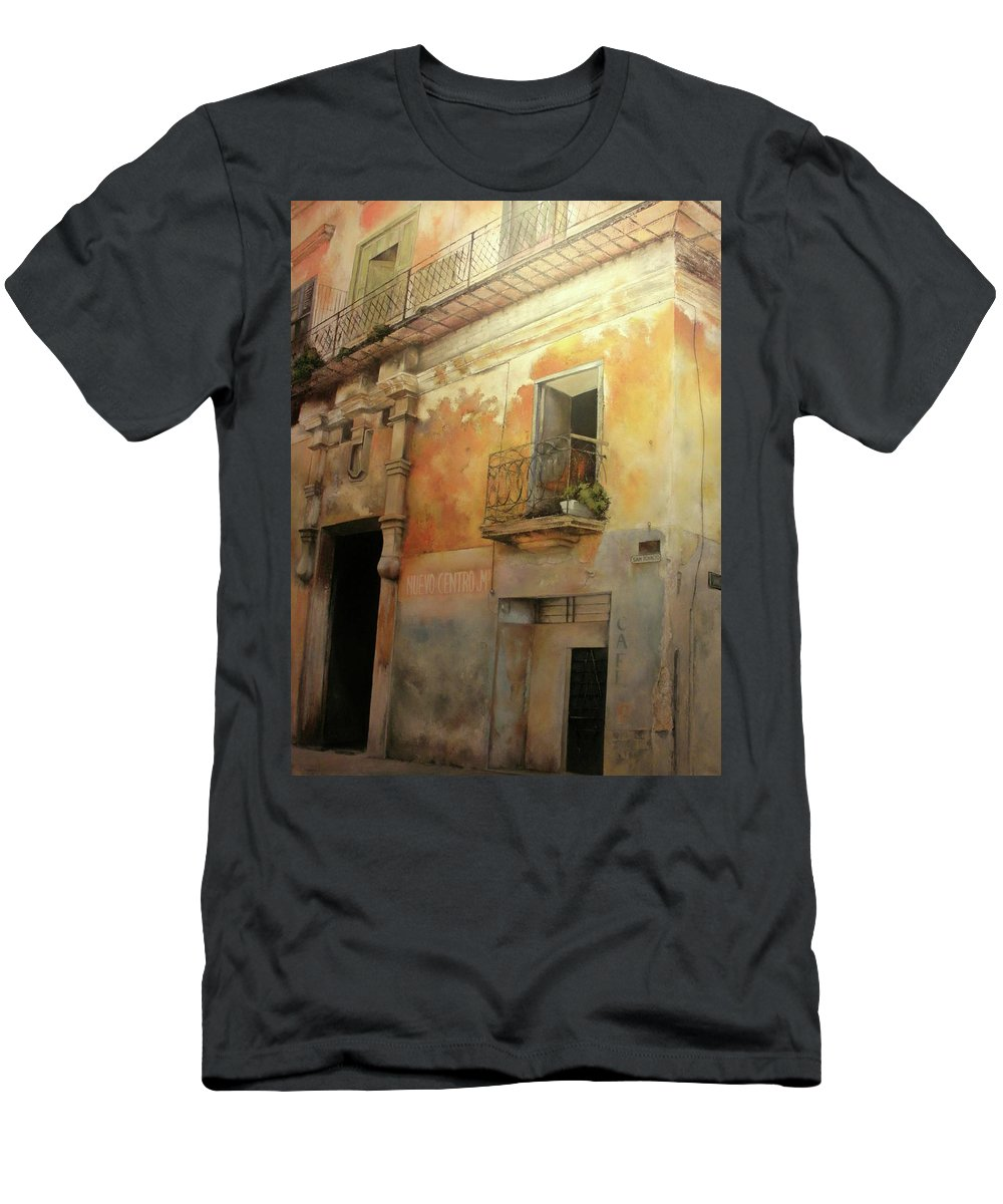 Havana Cuba T-Shirt featuring the painting Old Havana by Tomas Castano