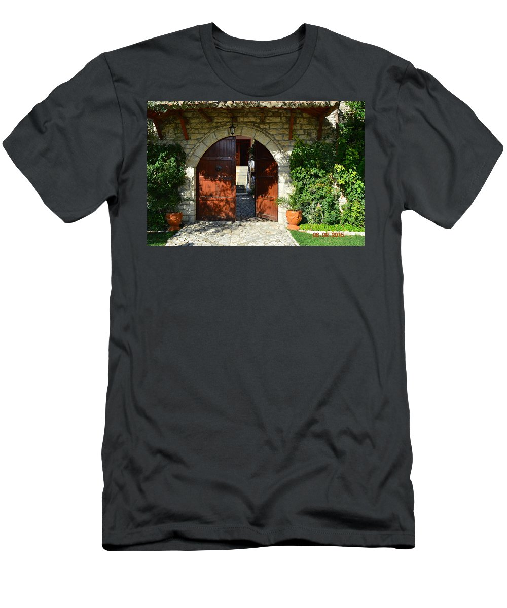 T-Shirt featuring the photograph Old House Door by Nuri Osmani