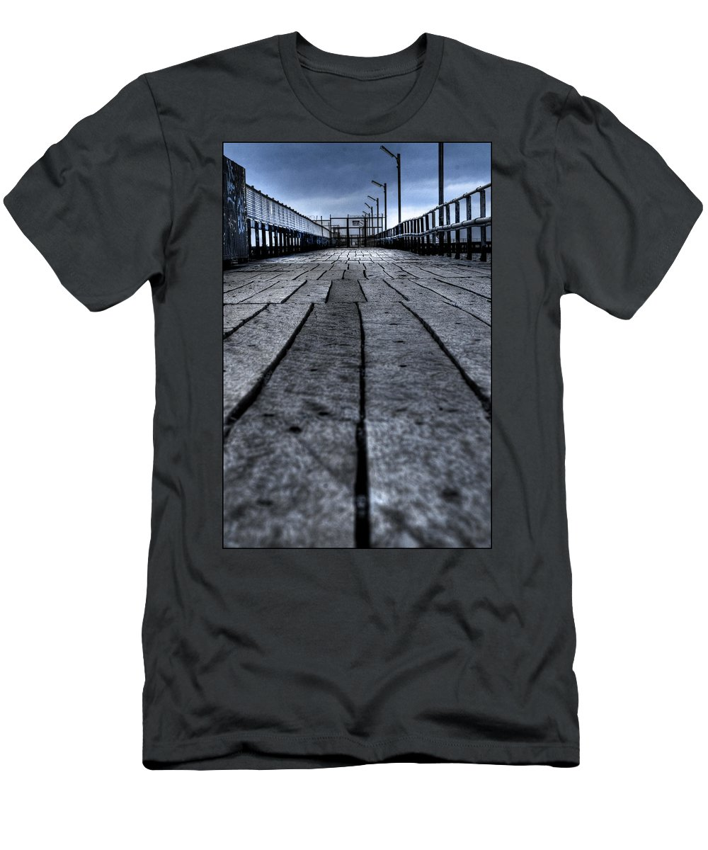 Jetty Men's T-Shirt (Athletic Fit) featuring the photograph Old Jetty 2 by Kelly Jade King
