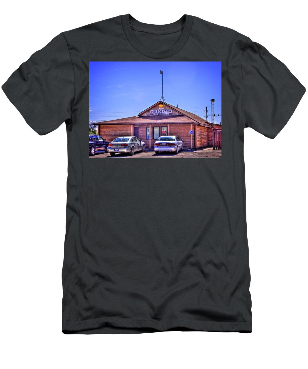 Pontiac Men's T-Shirt (Athletic Fit) featuring the photograph Old Log Cabin Inn by Fred Hahn