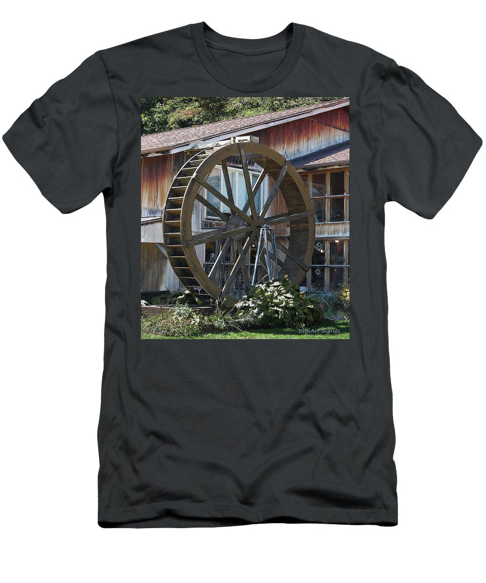 Water Men's T-Shirt (Athletic Fit) featuring the digital art Old Mill Store Entry To Caverns by DigiArt Diaries by Vicky B Fuller