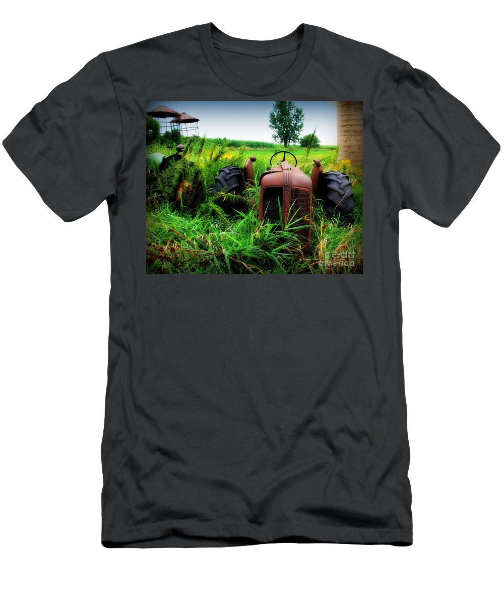 Tractor Men's T-Shirt (Athletic Fit) featuring the photograph Old Oliver by Perry Webster