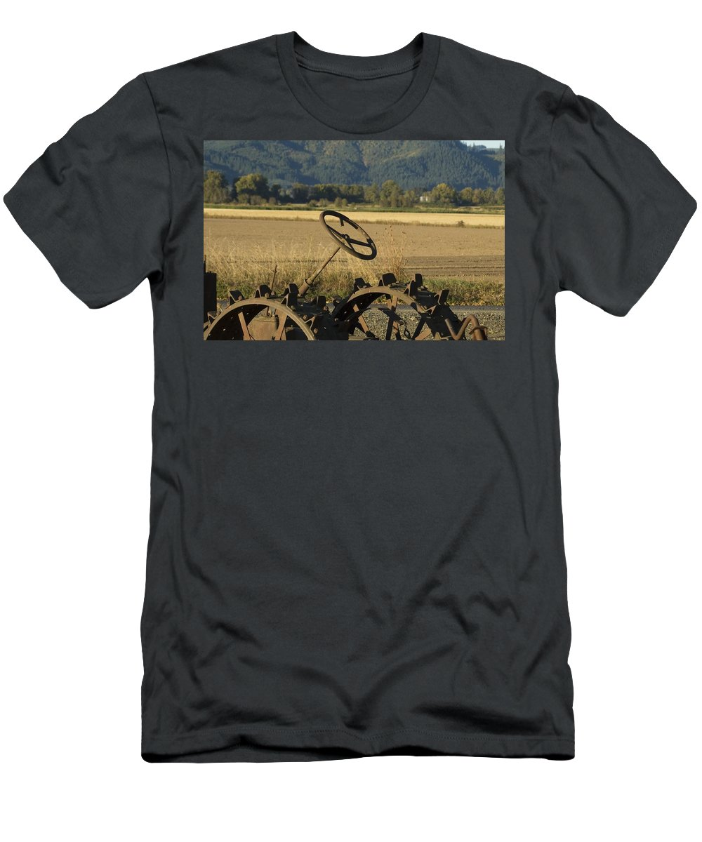 Tractor Men's T-Shirt (Athletic Fit) featuring the photograph Old Tractor by Sara Stevenson